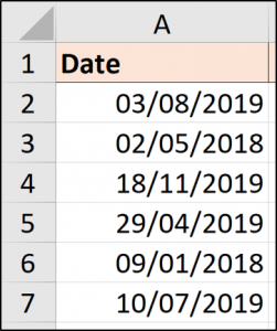 Dates avec points convertis en dates réelles