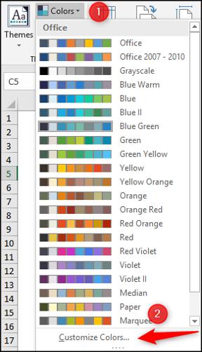 Créer votre propre thème de couleur