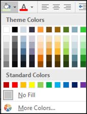 Appliquer une couleur de remplissage du thème
