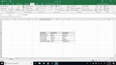 Comment séparer le prénom et le nom de famille dans Excel