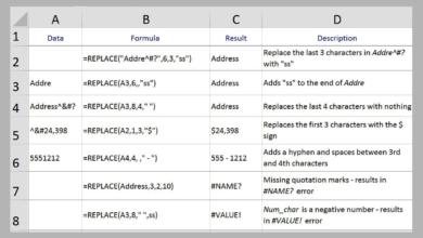 Remplacer ou ajouter des caractères avec la fonction REPLACE d'Excel