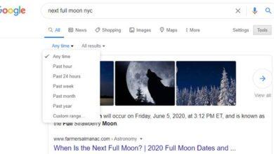 Recherche sur l'échelle de temps de Google