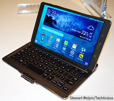 """Étui de clavier Bluetooth pour le Galaxy Tab S 8.4""""."""