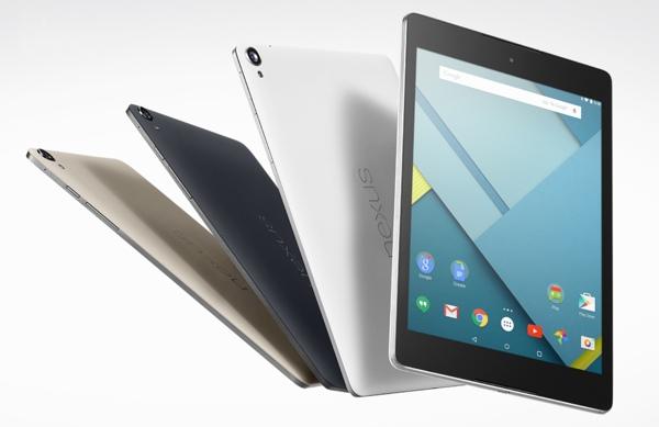 Comprimés Nexus 9
