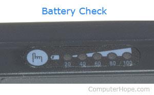 Vérification de la batterie de l'ordinateur
