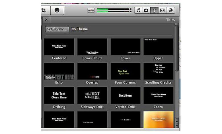 Apprendre à utiliser les titres de iMovie