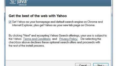 Mise à jour de Java Détournement de Yahoo
