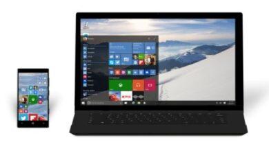 Ordinateur portable Windows 10 et téléphone Windows