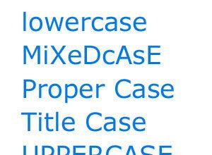 Exemple de texte en majuscules