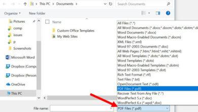 Microsoft Word - Changer le type de fichier pour l'ouvrir