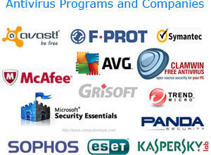 Programmes et entreprises antivirus