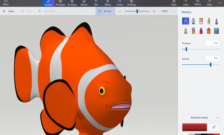 Comment insérer et peindre des modèles 3D dans Paint 3D