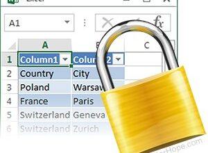 Illustration : Un fichier Excel verrouillé.