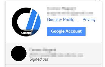 Utilisateur se déconnectant de Google.