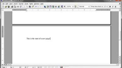 Word Saut de page avec pages séparées
