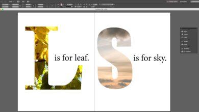Comment utiliser le texte comme masque d'image dans Adobe InDesign