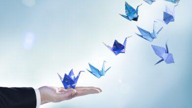 Conception graphique Un guide de la couleur bleu d'entreprise