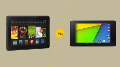 Kindle Fire HDX 7 contre Nexus 7