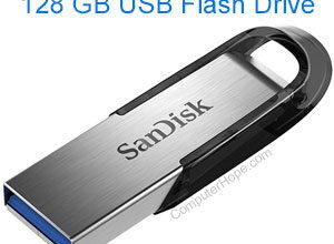 Clé USB SanDisk Ultra Flair de 128 Go