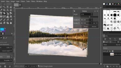 Redressez un horizon avec le tutoriel GIMP
