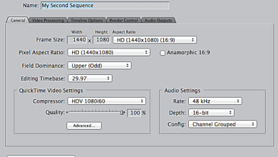 Tutoriel FCP 7 - Paramètres de séquence, partie 1