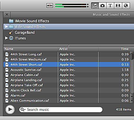 Tutoriel pour l'ajout de musique et d'effets de fondu dans iMovie 11