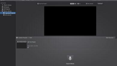 iMovie 10 - Démarrer un nouveau projet de montage vidéo
