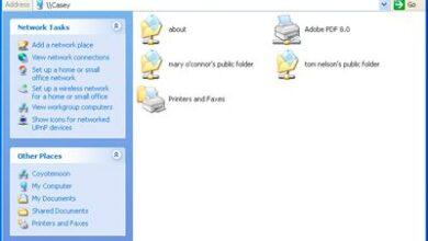 Partager des fichiers OS X 10.5 avec Windows XP